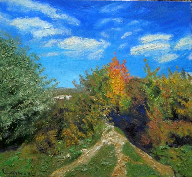 Осенний день  холст, масло Сыпняк Петр - фото 1