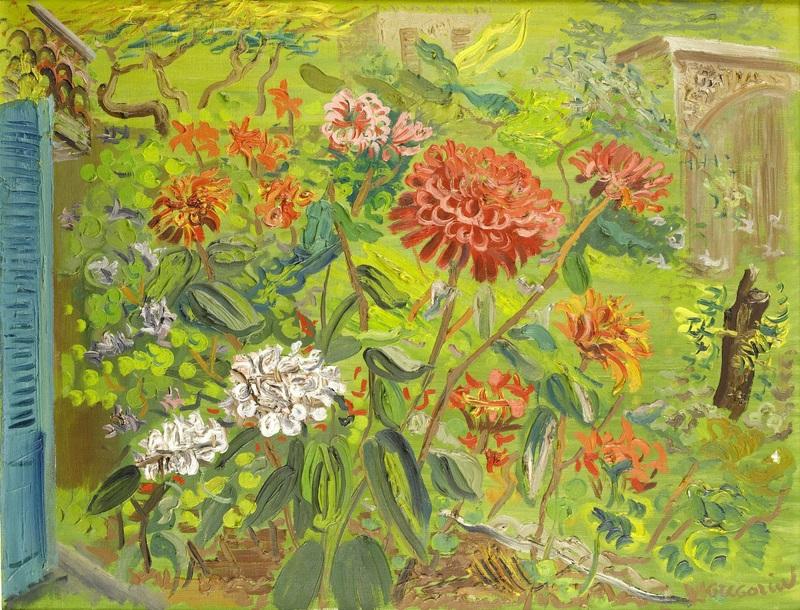 Мой сад  печать на холсте, натянут Григорьев Борис - фото 1