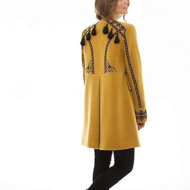 """Пальто """"Злато"""" Желтый итальянская ткань (50% ка 2KOLYORY - фото 3"""