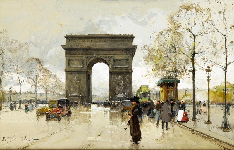 Триумфальная арка №2  печать на холсте, натянут Гальен-Лалу Эжен - фото 1