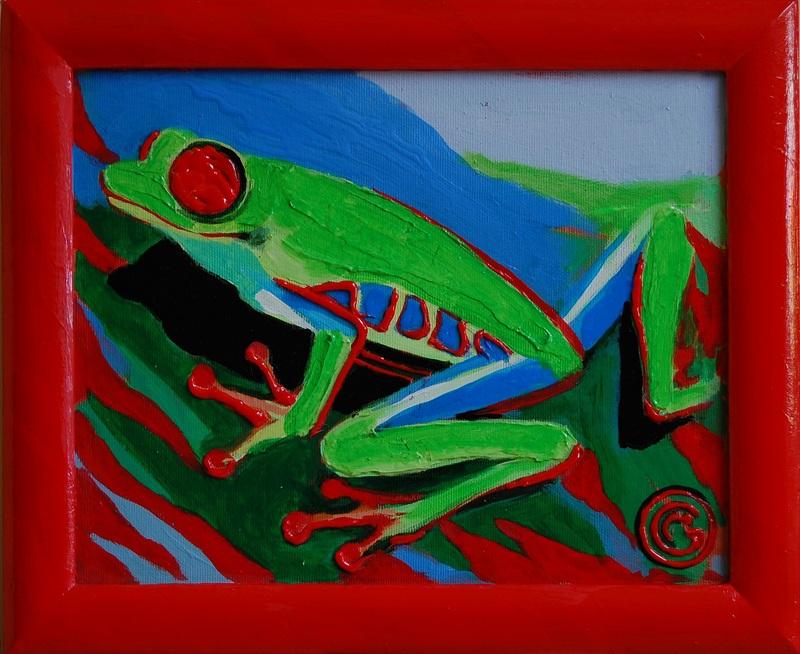 Лягушка  холст, акрил Грицик Марта - фото 1
