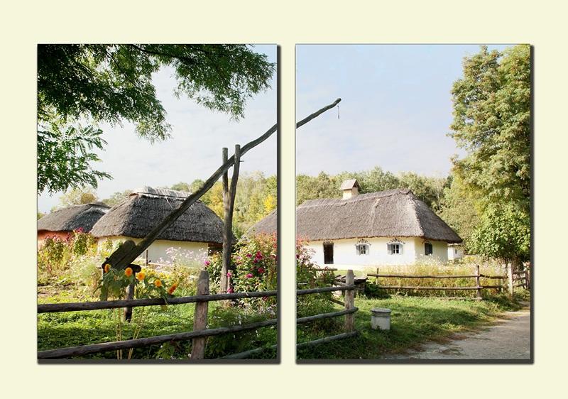 Украинская деревня №1  печать на холсте, натянут UkrainArt - фото 1