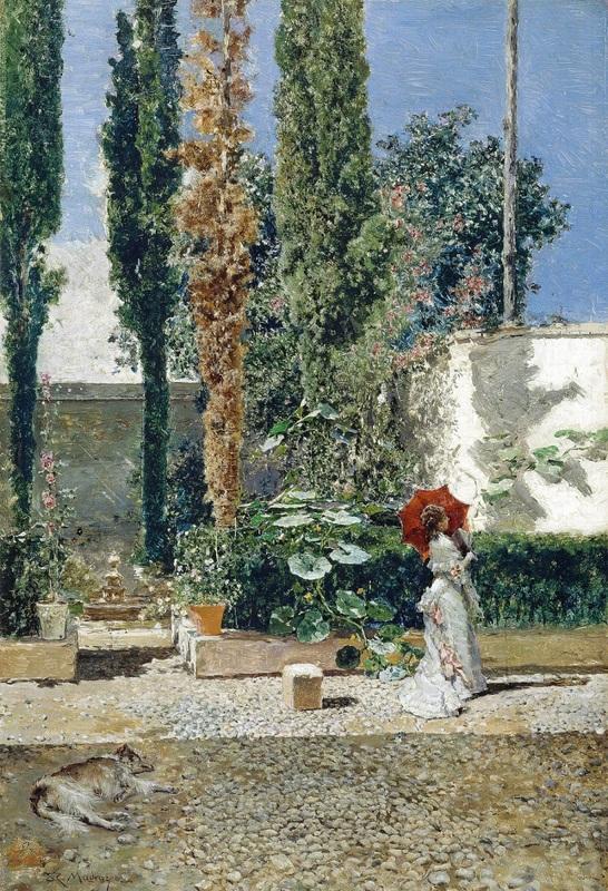 Сад дома Фортуни  печать на холсте, натянут Мадрасо Раймундо - фото 1