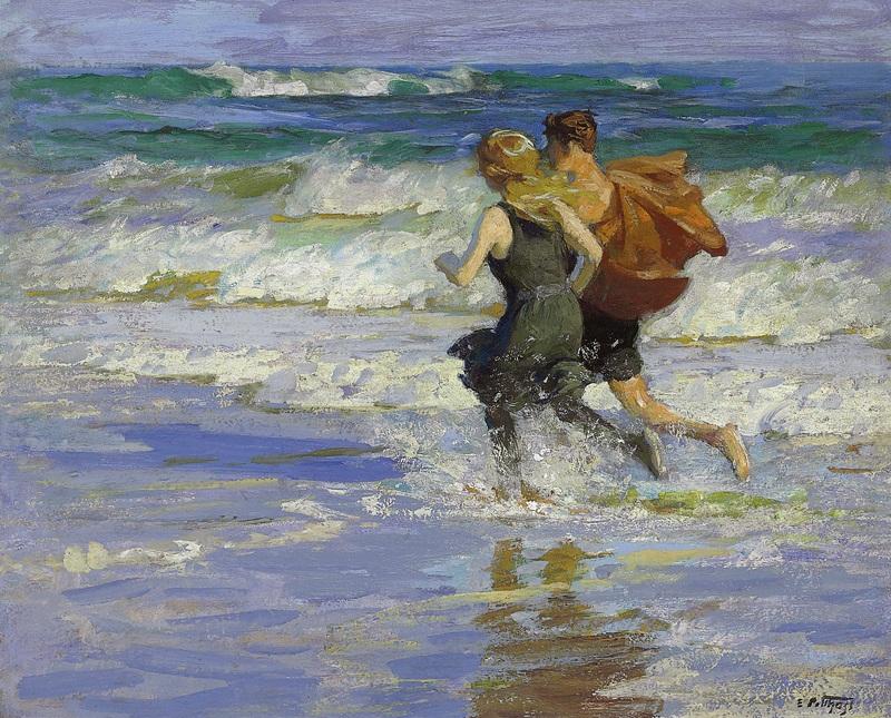 At the Beach 2  печать на холсте, натянут Потхаст Эдуард Генри - фото 1