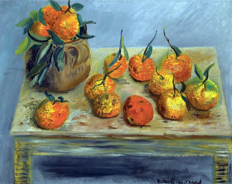 Натюрморт с апельсинами  печать на холсте, натянут Григорьев Борис - фото 1