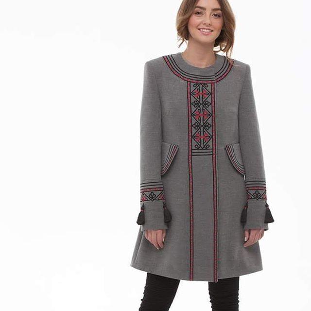 """Пальто """"Два кольори"""" Серый итальянская ткань (50% ка 2KOLYORY - фото 3"""