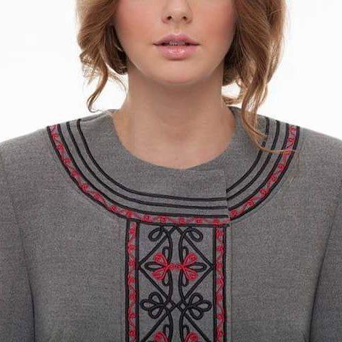 """Пальто """"Два кольори"""" Серый итальянская ткань (50% ка 2KOLYORY - фото 2"""