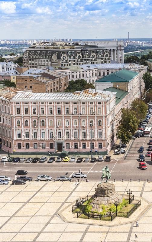 Вид с колокольни Софийского собора. Киев №1  печать на холсте, натянут UkrainArt - фото 2