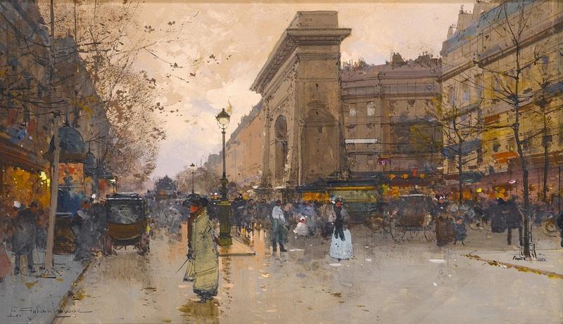 Вид Парижа  печать на холсте, натянут Гальен-Лалу Эжен - фото 1