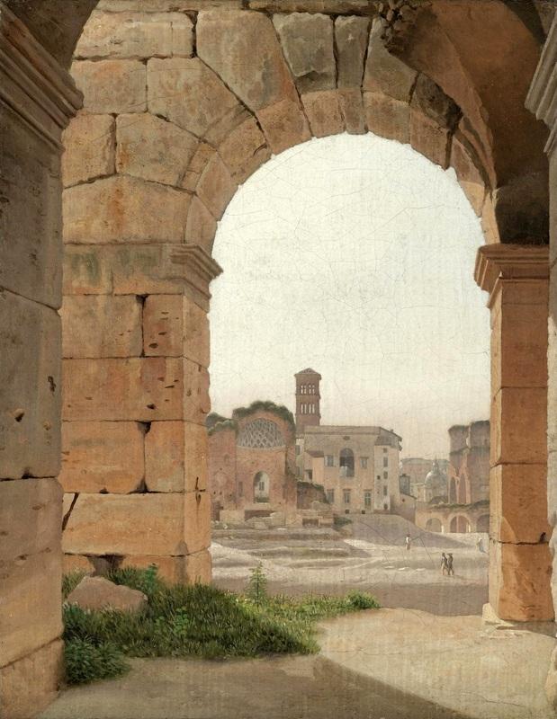 Вид Форума от Колизея  печать на холсте, натянут Эккерсберг Кристоффер Вильхельм - фото 1