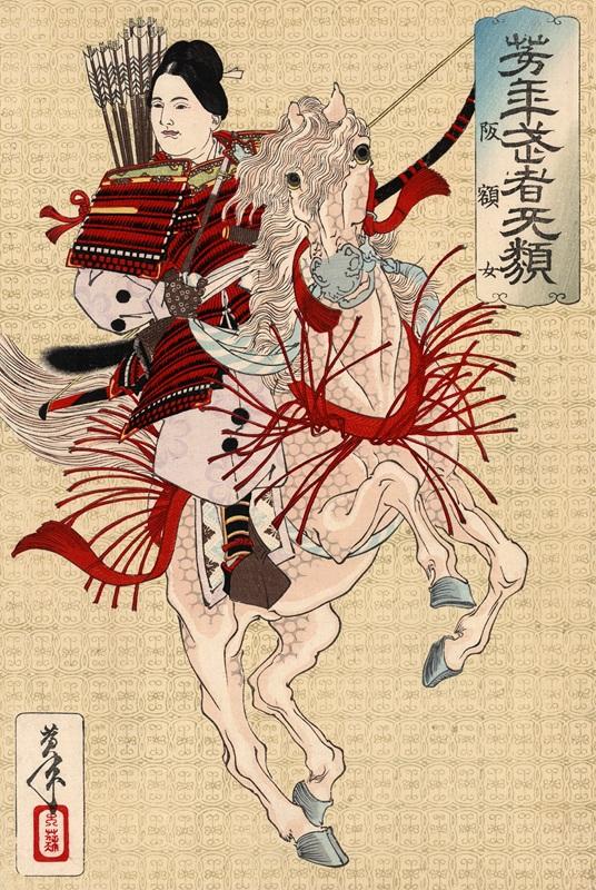 Hangaku gozen by yoshitoshi  печать на холсте, натянут Цукиока Еситоси - фото 1