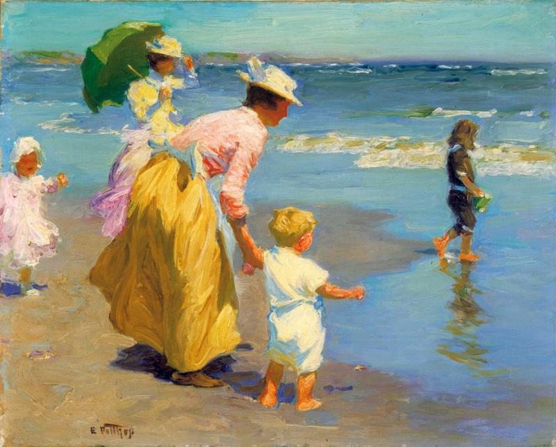 At the Beach  печать на холсте, натянут Потхаст Эдуард Генри - фото 1