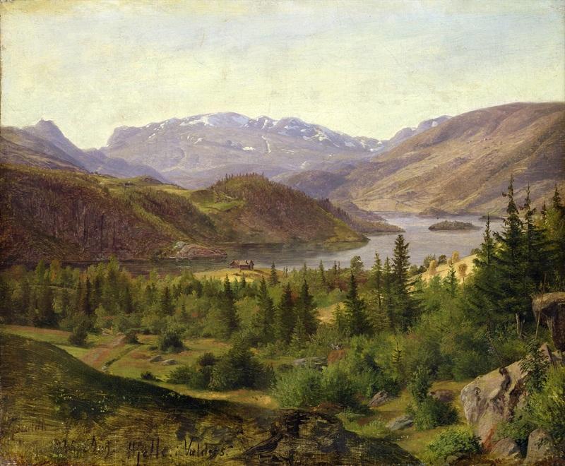 Hjelle in Valders, Tile Fjord  печать на холсте, натянут Гурлитт Луис - фото 1