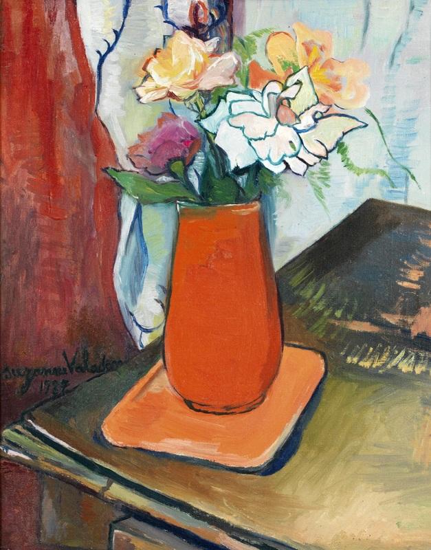 Букет цветов  печать на холсте, натянут Валадон Сюзанна - фото 1
