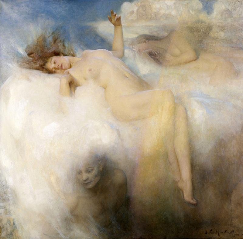Облако  печать на холсте, натянут Хэкер Артур - фото 1