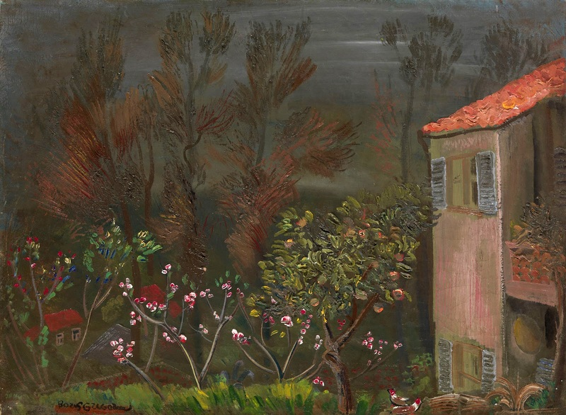 В саду  печать на холсте, натянут Григорьев Борис - фото 1