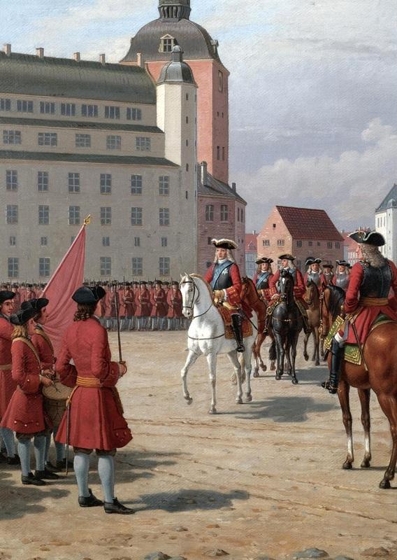 Король Фредерик на коне IV  печать на холсте, натянут Эккерсберг Кристоффер Вильхельм - фото 1