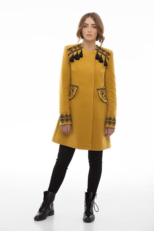 """Пальто """"Злато"""" Желтый итальянская ткань (50% ка 2KOLYORY - фото 1"""