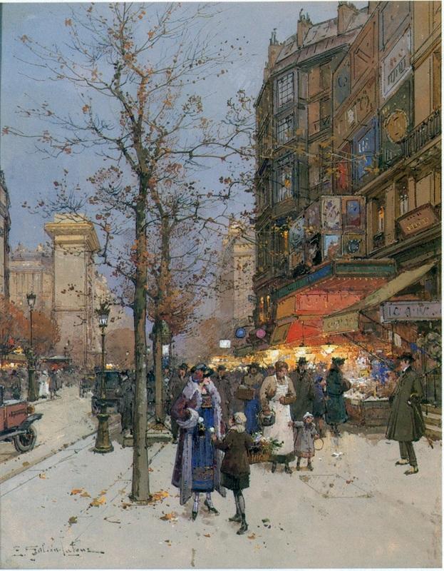 Париж  печать на холсте, натянут Гальен-Лалу Эжен - фото 1