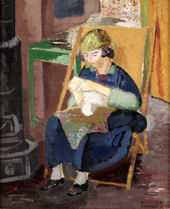Берта шьет  печать на холсте, натянут Грюневальд Исаак - фото 1