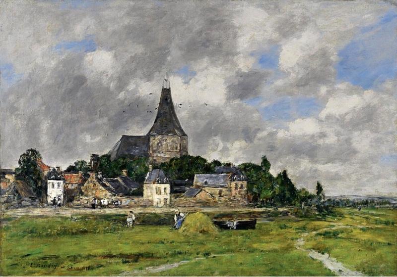 Церковь на Большом канале в Кильбеф  печать на холсте, натянут Буден Эжен - фото 1