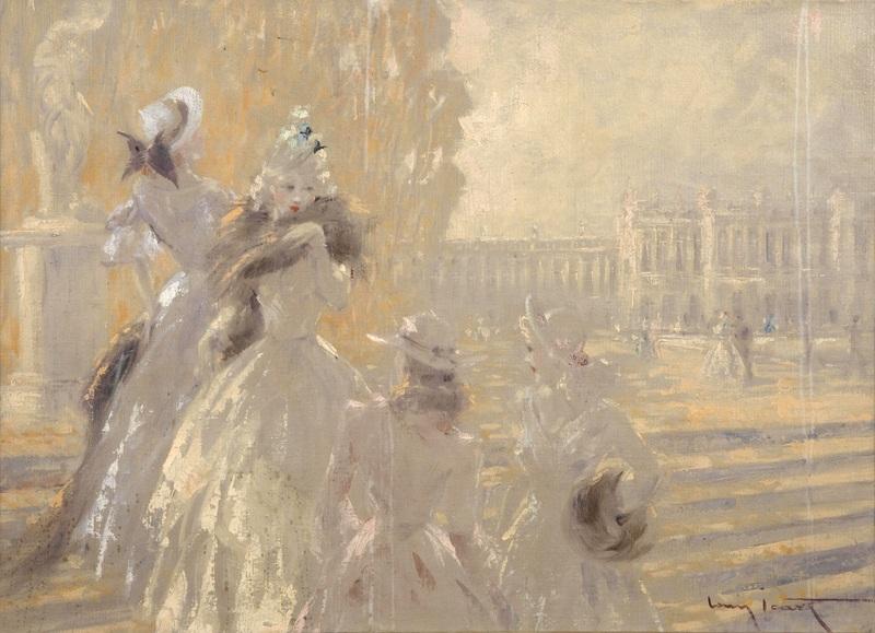 Осенью в Версале  печать на холсте, натянут Икар Луи - фото 1